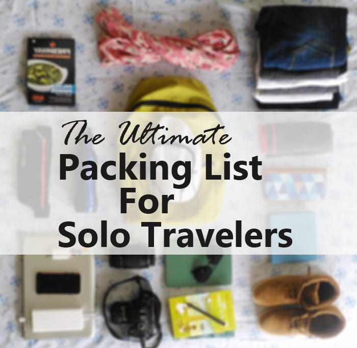 Packing list for solo travellers