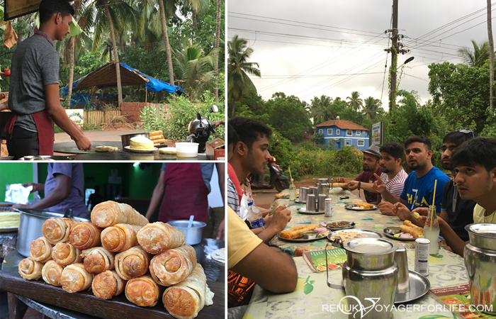 Street food options in Goa