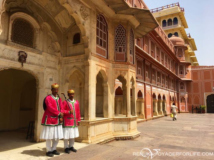 Royal door keepers of City Palace Jaipur