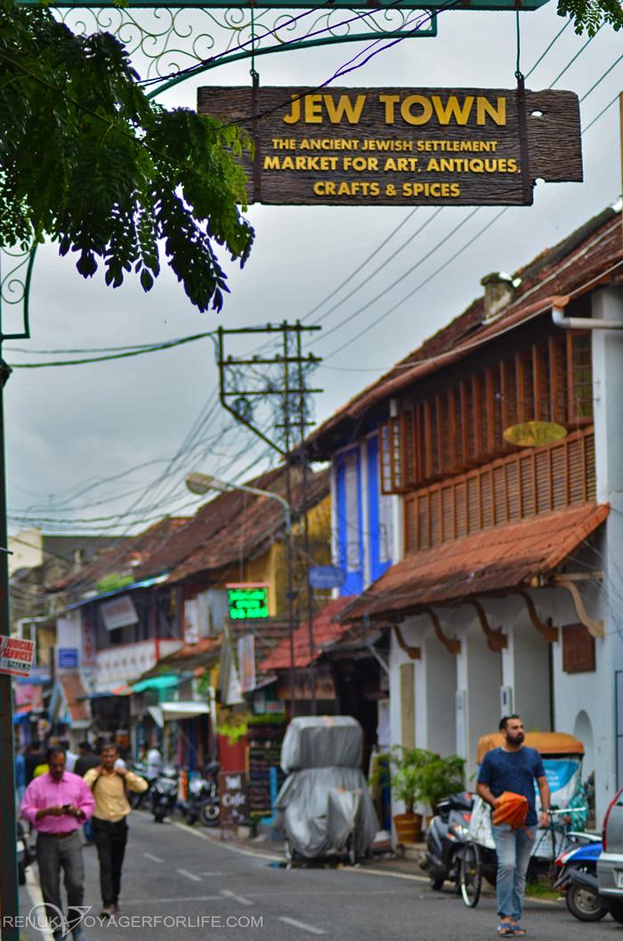 Jew Town street market in Kochi
