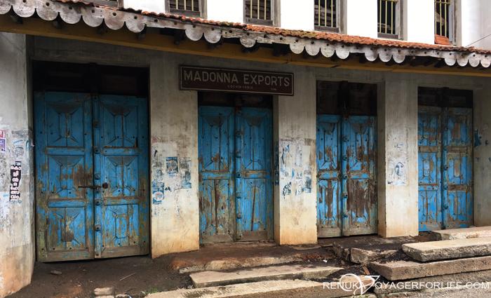 Old doors of Jew Town in Kochi