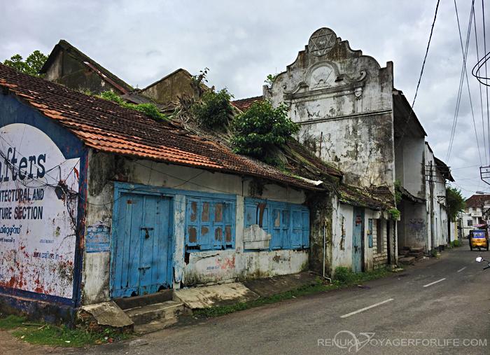 The rundown houses of Jew Town Kochi