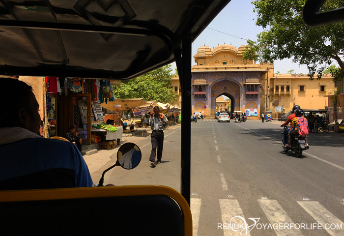 Rickshaw ride in Jaipur