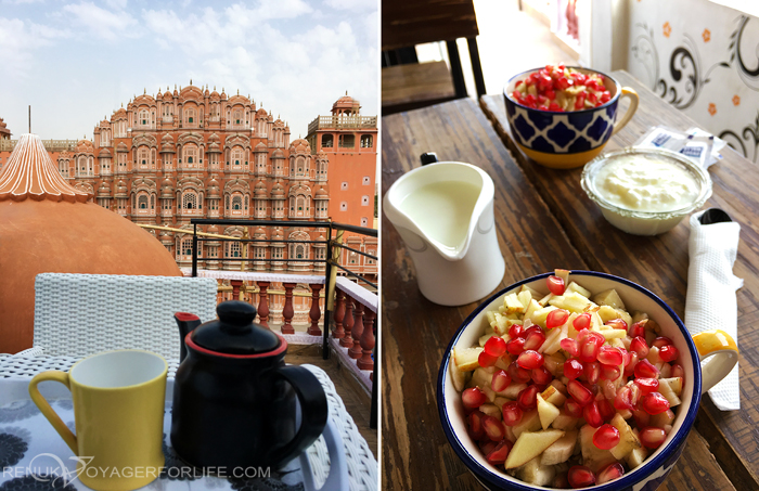 Cafes and restaurants with Hawa Mahal views