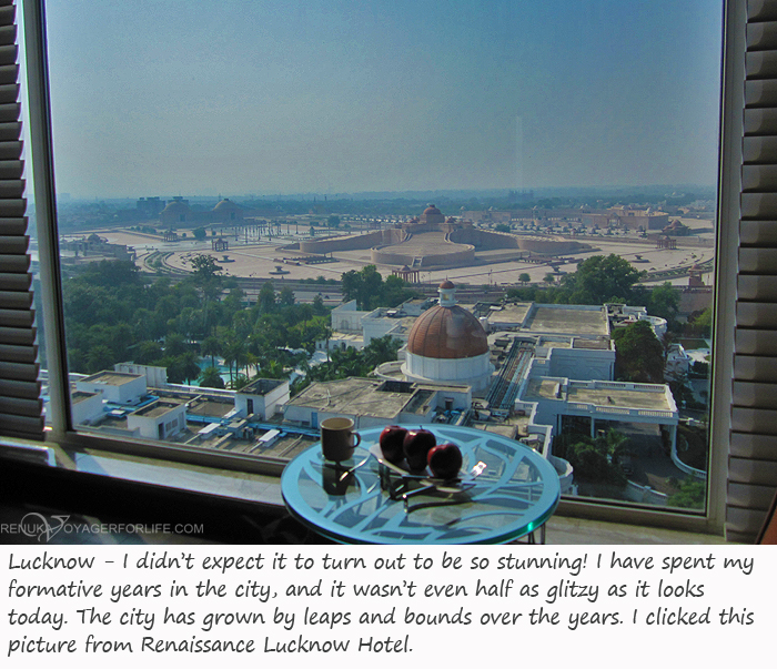 View from Hotel Renaissance Lucknow