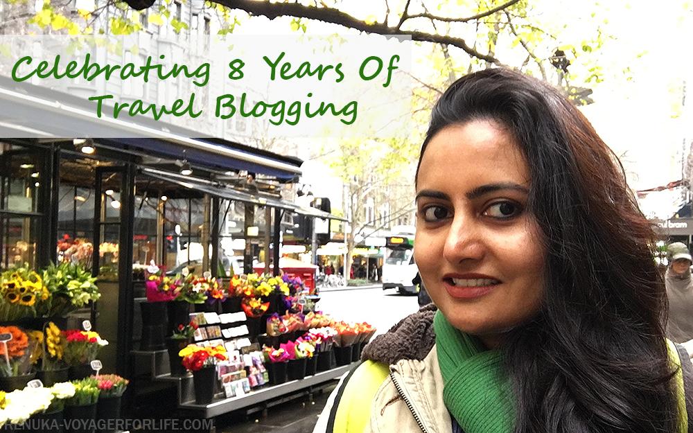 Anniversary posts on blogging travel